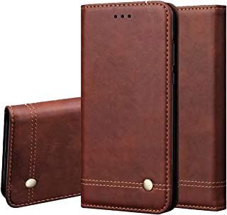 Galaxy Note 4 Wallet Case,Case Cover for Galaxy Note 4,RUIHUI Classic Leather Wallet Folding Flip Protective Shell with Card Slots,Kickstand,Magnetic Closure for Samsung Galaxy Note 4 (Brown)