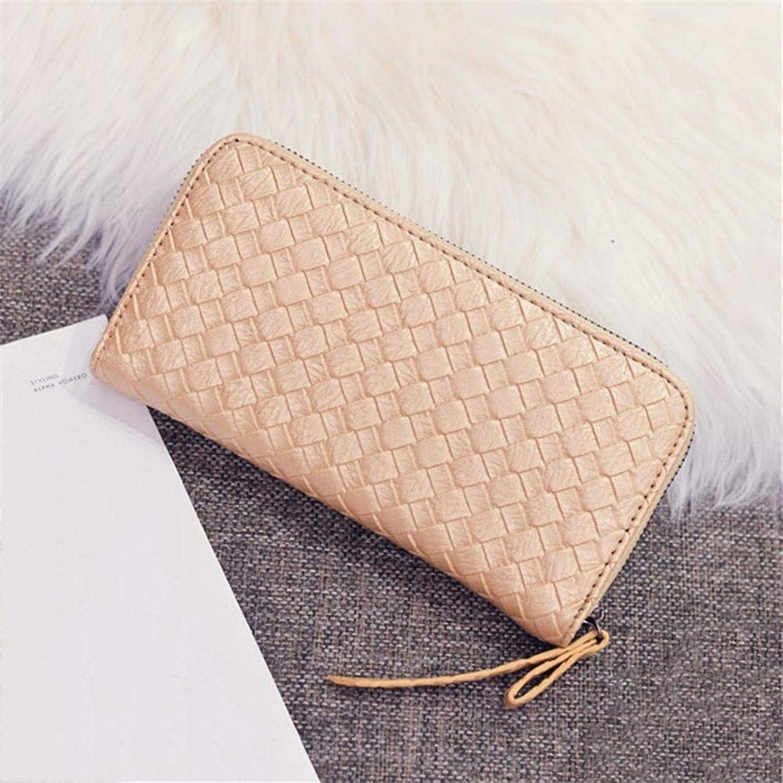 Girls Purse Women's Wallet,Women's Purse Clutch Clutch Long Zipper Wallet PU Leather (color   F)