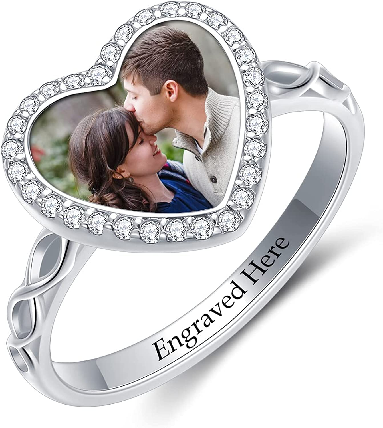 Spring new work one after another SLIACETE Complete Free Shipping Custom Photo Ring 925 Personalized Sterling Pict Silver