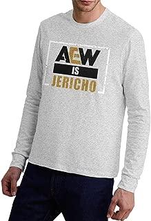 Men's Aew is Jericho Cool Long Sleeve Tshirt Jersey T Shirt White