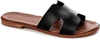 Faux Leather Slides Slippers For Women