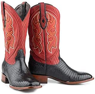 Mens Stetson Arlington Teju Lizard Boots Square Toe Handcrafted JBS Collection