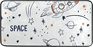 Custom Collection Star Rocket Meteor Rugs Area Rugs Reggie Artwork Collection for Living Room,Entryway,Bedroom and Dining Room