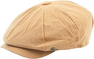 Malltop England Style Vintage Unisex Casual Linen Hats Fashion Painter Hat Solid Color Adjustable Beret Caps