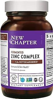 Zinc Supplement – New Chapter Zinc Food Complex for Immune Support + Skin Health + Non-GMO Ingredients – 60 ct Vegetarian ...