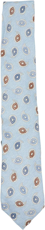 Altea Milano Men's Cotton Silk Paisley Print Necktie