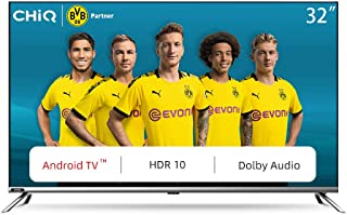 CHiQ L32H7 LED Smart TV, HD, 32 Inch, Android 9.0, HDR10, A+ Screen, WiFi, Bluetooth 5.0, Netflix, YouTube, Prime Video, F...