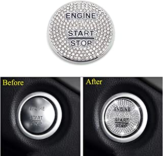Thor-Ind Bling Crystal Push Start Stop Button Cover Fit for Mercedes-Benz C E S M CLA CLS CLK GLA GLC GLE GL SL Class