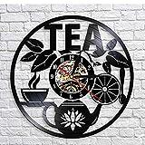 Zihan9 Black 5 Explosion CD Record Vinyl Wall Clock Tea Drink artExquisito Reloj Retro decoración del hogar Adornos Relojes 12 Pulgadas