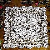 crochet manteles cuadrados 40 x 40cm unipersonales