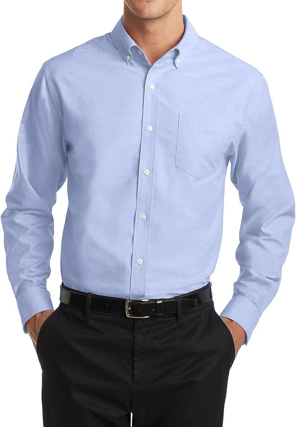 贈物 Men's Long オーバーのアイテム取扱☆ Sleeve Uniforms SuperPro Down Collar Oxford Sh Button