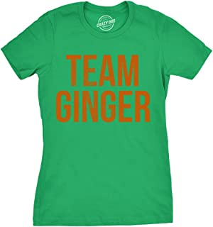 Womens Team Ginger Tshirt Funny Red Head St Patricks Day Irish Tee for Ladies