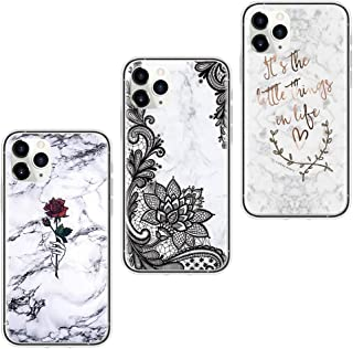 Yoedge 3 Pack Clear Case Compatible with Xiaomi Redmi Note 10S / Note 10 (4G), Transparent Silicone Phone Cover with Cute ...