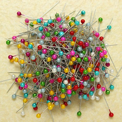 Pins Decorative Mixed Color 800Pcs Blending Mixed Color Pearl Head Dressmaking Weddings Corsage Sewing Pins Beautiful color,durable material,not easy to rust