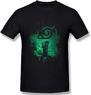 Naruto Rock Lee Symbol and Outline Men's Basic Short Sleeve T-Shirt Black