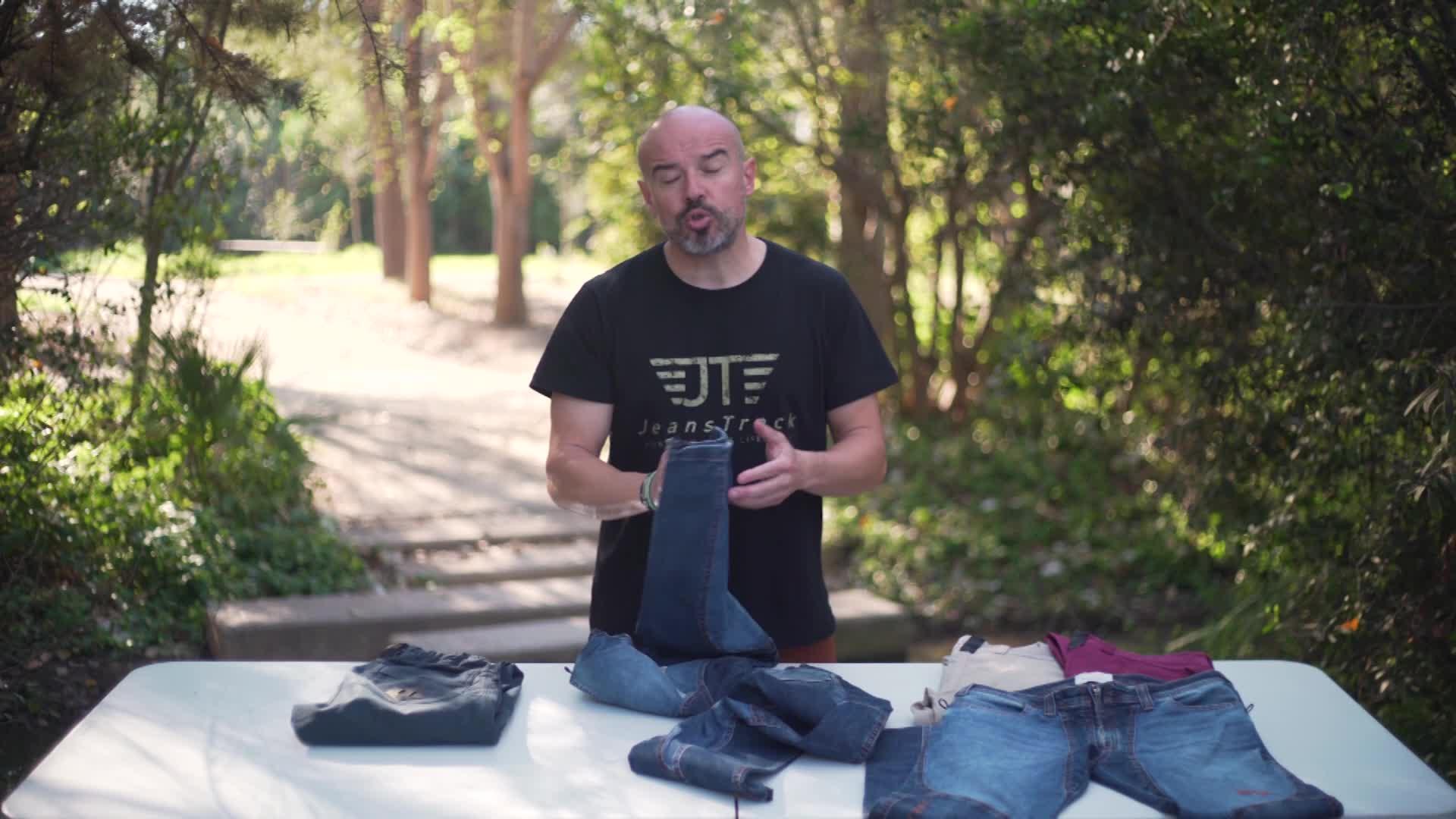 Jeanstrack Tardor Jeans Pantalón de Escalada-Trekking, Mujer
