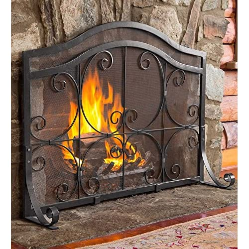 Wrought Iron Fireplace Screens Amazoncom