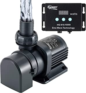 Hygger 2650GPH Quiet Submersible and External 24V Water Pump, with Controller (30%-100% Settings), Powerful Return Pump fo...