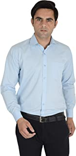 the DINACH Solid Full Sleeve Formal 100% Cotton Shirt