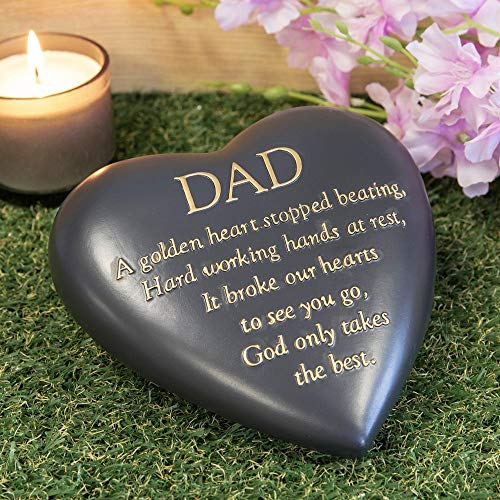 Thoughts of you Dad Heart Shaped Remembrance Graveside Memorial Ornament