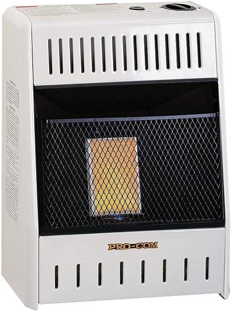 ProCom Heating INC ML060HPA 6,000 BTU Liquid Propane Gas Infrared Wall Heater, White: image