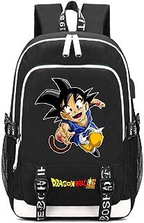 Cxjff Dragon Ball Anime Mochila Mochila Mochila for portátil con Puerto de Carga USB y Toma de Auriculares / 9