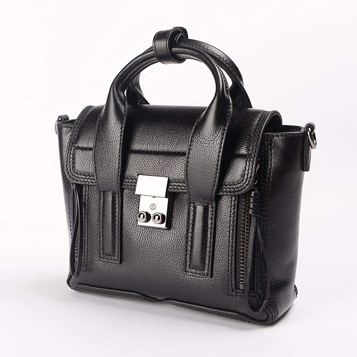 Ladies Handbag Leather Bag Fashion Head Leather Handbag Simple Single Shoulder Messenger Bag 30  20  10cm