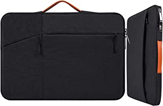 """13-13.5 Inch Water-Repellent Laptop Briefcase Sleeve with Handle for 2018 MacBook Air 13 A1932, Dell Inspiron 13, Lenovo Yoga 720/730 13"""", Acer Aspire, Huawei MateBook X Pro 13.9 Carrying Case, Black"""