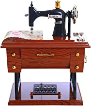 Islandse🎉🎉Vintage Music Box Mini Sewing Machine Style Mechanical Birthday Gift Table Decor
