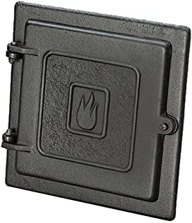 HY-C Liberty Foundry Clean Out Door for Chimney, 8 by 8-Inch, Black
