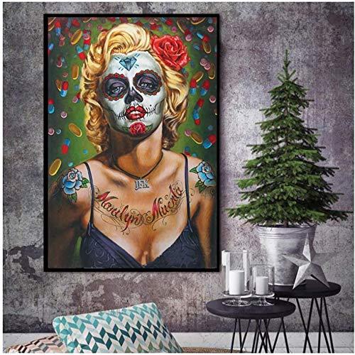 Preisvergleich Produktbild Surfilter Print auf Leinwand Malerei Afrikanische Wandkunst Einzelbilder für Wohnzimmer Wand Leinwand Modernes Haus Poster und Drucke 60x90cm x1pcsNo Frame 3