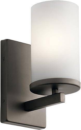 popular Kichler 45495OZ outlet online sale One Light outlet online sale Wall Sconce, Olde Bronze online