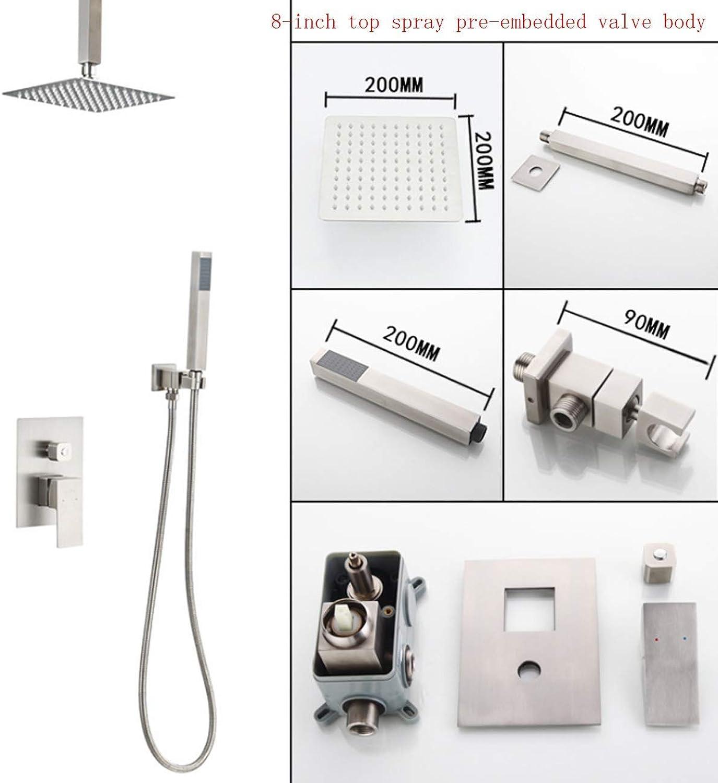 SEEKSUNG Wasserhahn erstecktes Duschset, Decken Dusche-Wasserhahn Top-Dusche Handdusche für Hotel-Badezimmer-Dusch System -8inch
