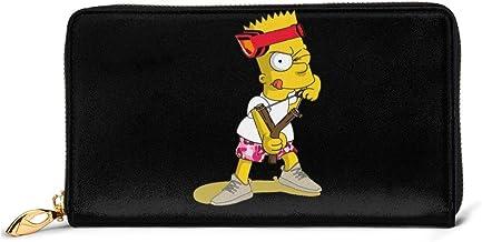 BGHYT Cartera de Cuero de Moda Bart-Simpson Cartera Personalizada Personalizada Impresa