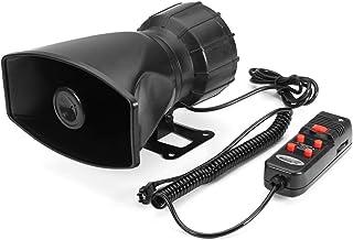 60W 5 الصوت الصوت بصوت عال تحذير إنذار الشرطة النار في صفارة صفارات الإنذار القرن واهن مكبر الصوت ميكروفون نظام Durable