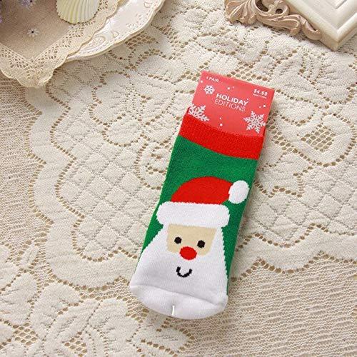 Calcetines de Navidad para bebés, Calcetines de algodón Transpirables para Año Nuevo para niños, Bonitos y encantadores, Calcetines cómodos de Otoño Invierno-a9-S