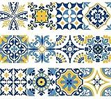 NossaRua Franja de Vinilo Decorativo Autoadhesivo removible para Pared de fácil aplicación para baño, Cocina y decoración colección Alfama. Set de 15 Unidades. 3 Metros lineales
