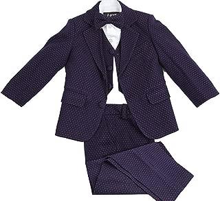 Wonder Stage Boys 3 Pc Solid Colored Satin Suits Jacket Pants Bowtie