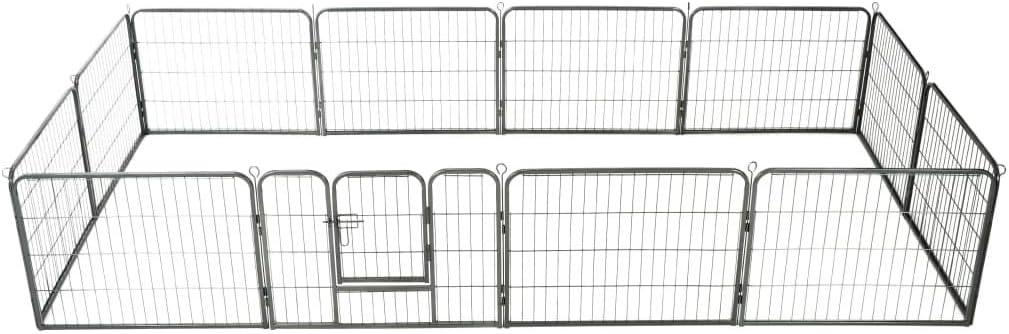 Dog Playpen 12 Panels Houston Large discharge sale Mall Steel Black 31.5