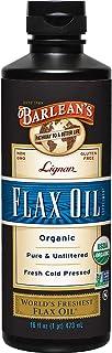 Barleanas Organic Lignan Flax Oil, 16 Fl Oz