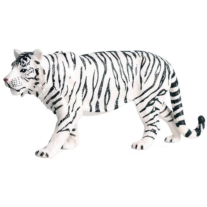 学習インストールサイレンFLORMOONシベリア白虎の置物、現実的な動物フィギュア、科学プロジェクト、ケーキトッパー、早期教育玩具誕生日クリスマスギフト幼児子供のための年齢 3 4 5