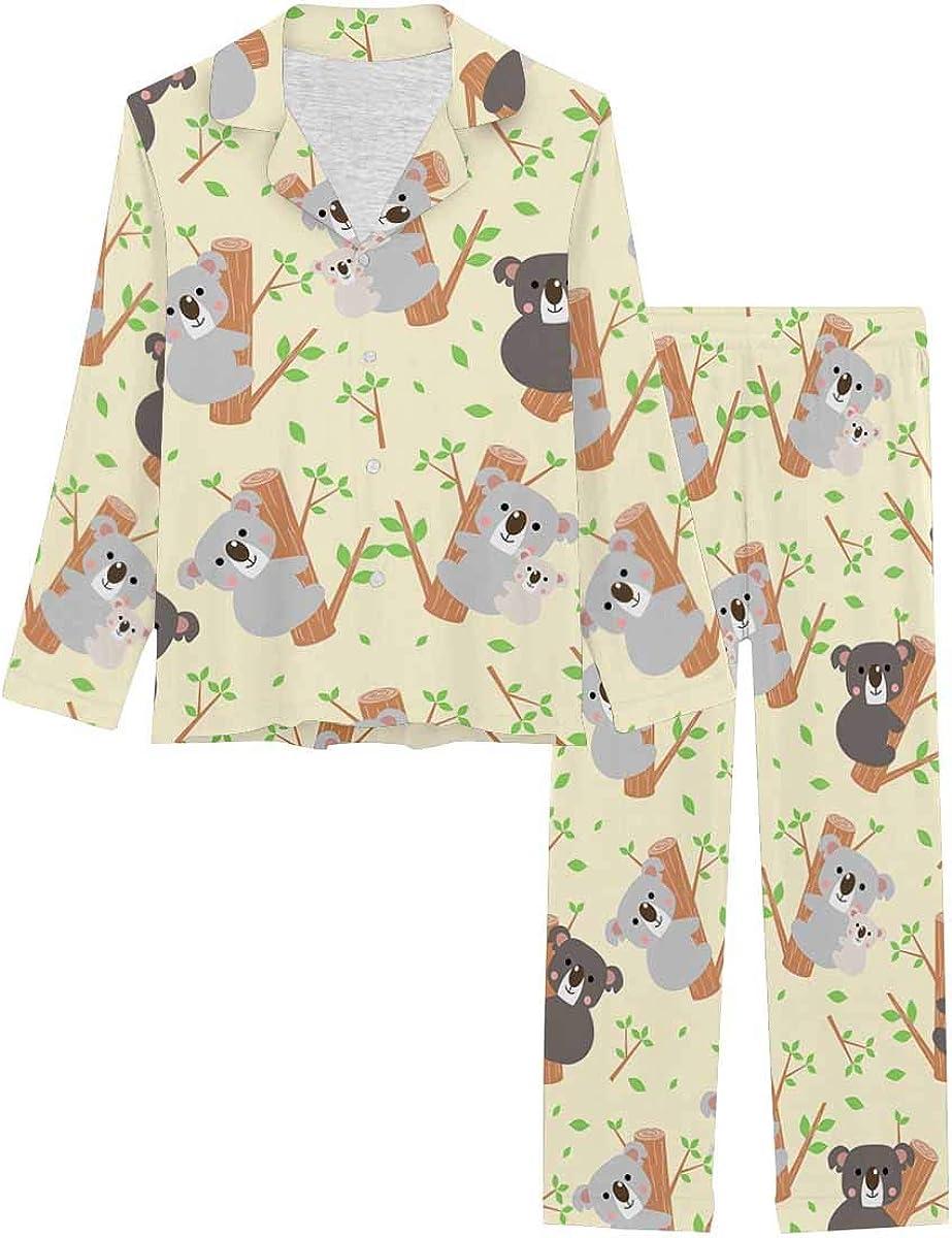InterestPrint Women's Indianapolis Mall Nightwear Soft Loungewear with Pants quality assurance Long