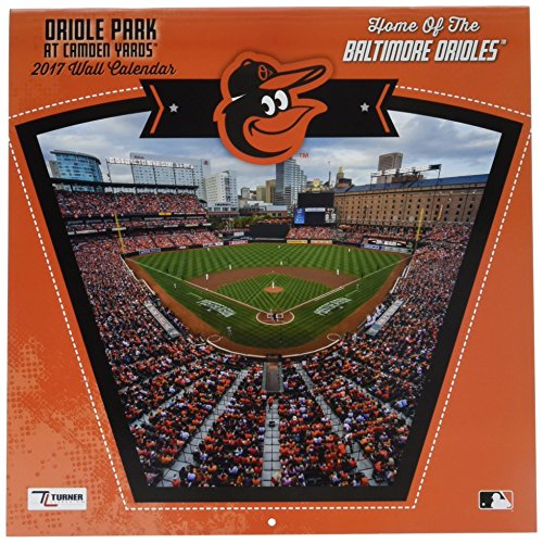 "Turner Licensing Sport 2017 Baltimore Orioles Camden Yards Wall Calendar, 12""X12"" (17998011987)"