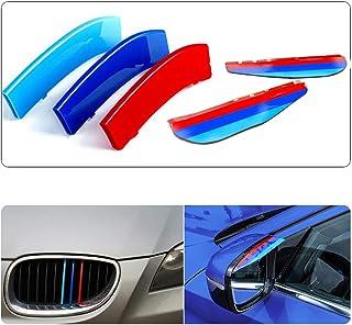 couleur 3D pour BMW 2013-2016 S/érie 3 GT 3GT F34 320d 325d 330d 335d 328i 320i 335i xDrive avec 9 bandes de calandre Biznon Stickers pour bandes de garniture de calandre