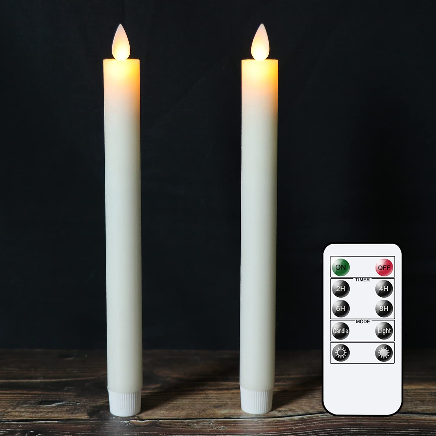 DRomance Flameless Taper Candles with Ranking TOP1 Moving and Timer Max 83% OFF W Remote