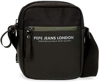 Pepe Jeans Sail Bandolera Pequeña Negro 15x19,5x6 cms Poliéster y PU