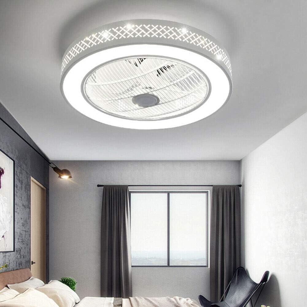 Deckenventilator mit Beleuchtung LED-Licht Einstellbare Windgeschwindigkeit Dimmbar Creative Gitterl/üfter Invisible Fan mit Fernbedienung f/ür Schlafzimmer Wohnzimmer Esszimmer Stil 2