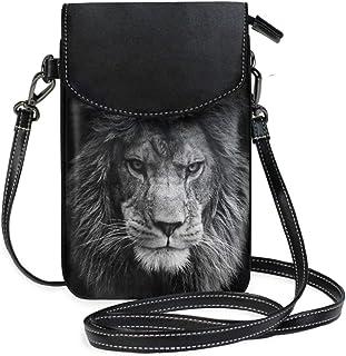 ZZKKO Mini-Umhängetasche mit afrikanischem Löwen, Handtasche, Geldbörse, Handtasche, Leder, für Damen, Freizeit, Reisen, W...