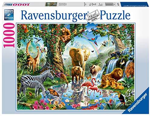 Ravensburger Puzzle 1000 Pezzi, Animali della Giungla, Collezione Fantasy, Puzzle Animali, Puzzle per Adulti, Puzzle Ravensburger - Stampa di Alta Qualità