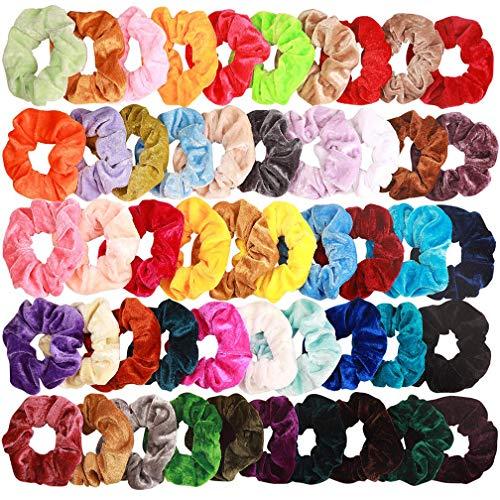 Lot de 20 Chouchous en Velours cheveux élastique bandes Chouchou Cheveux Ties Cordes Chouchou Accessoires Cheveux pour femme ou filles